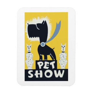 Vintage retro pet show poster magnet
