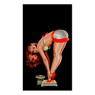 Vintage Retro Peter Driben Pinup Girl on Scale Business Cards