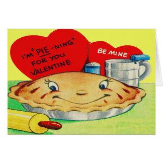 Vintage Retro Pie Valentine Card