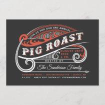 Vintage Retro Pig Roast Invitations