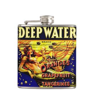 Vintage Retro Pin Up Girl Lady Mermaid Hip Flask