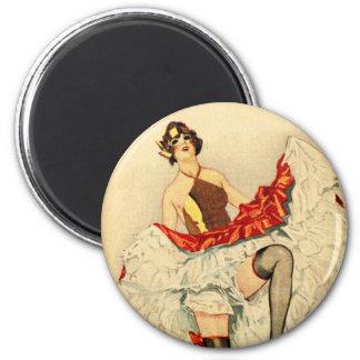 Vintage Retro Pin Up Pinup Showgirl French Dancer Magnet