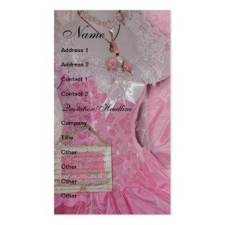 Vintage Retro Pink Dress Business Card