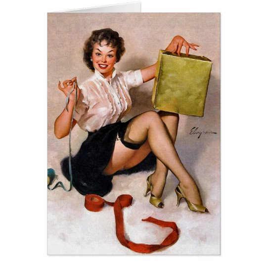 Vintage Retro Pinup Art Gil Elvgren Pin Up Girl Card