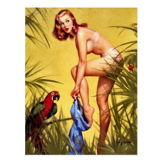 Vintage Retro Pinup Art Gil Elvgren Pin Up Girl Postcard