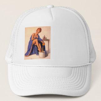 Vintage Retro Pinup girl illustration - Pin UP Gir Trucker Hat