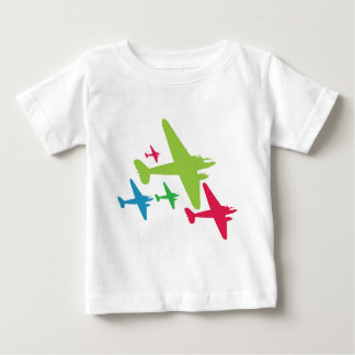 Vintage Retro Planes In Formation Baby T-Shirt