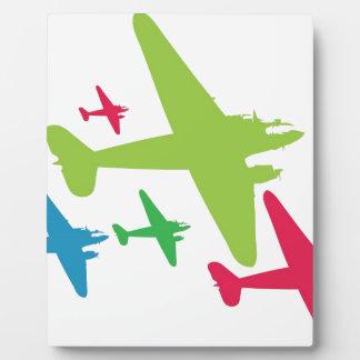 Vintage Retro Planes In Formation Display Plaque
