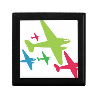 Vintage Retro Planes In Formation Jewelry Box