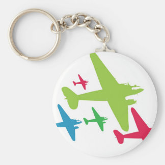Vintage Retro Planes In Formation Key Chains