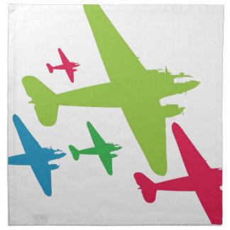 Vintage Retro Planes In Formation Napkin