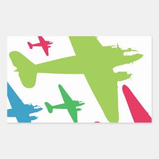 Vintage Retro Planes In Formation Rectangular Sticker