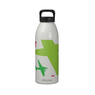 Vintage Retro Planes In Formation Reusable Water Bottles