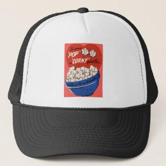 Vintage Retro Popcorn Valentine Trucker Hat