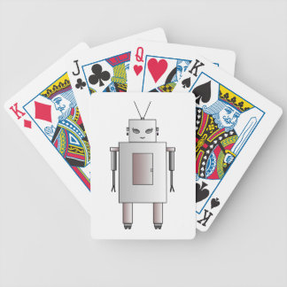 Vintage Retro Robot Cute Girl Hottie Whimsical Bicycle Playing Cards