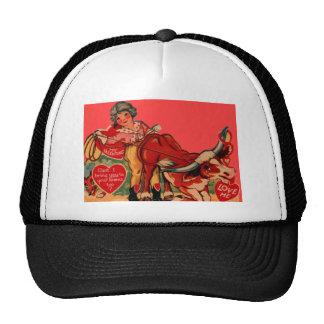 Vintage Retro Rodeo Valentine Card Trucker Hat