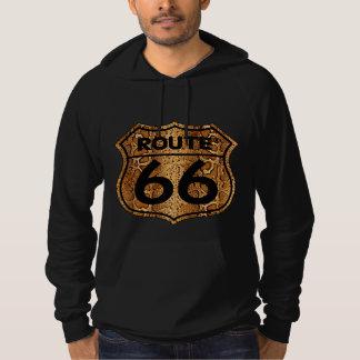 Vintage retro route 66 black hoodies sweatshirt