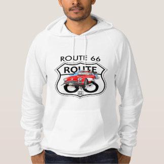 Vintage Retro Route US 66 black T-shirt Masculine