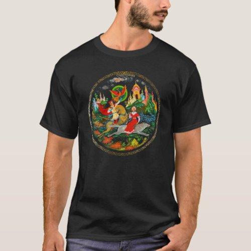Vintage Retro Russian Fairy Tale Fantasy Colorful T_Shirt