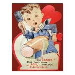 Vintage Retro Sailor Valentine Card Postcard