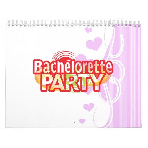 vintage retro salvaje del fiesta loco del bachelor calendarios