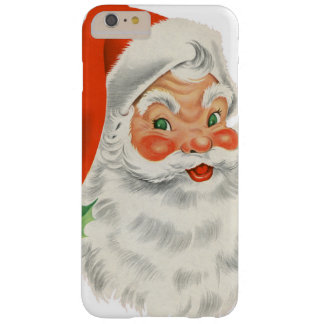 Vintage Retro Santa Claus Barely There iPhone 6 Plus Case