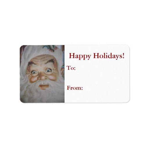 Vintage Retro Santa Claus Custom Address Label