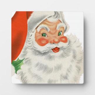 Vintage Retro Santa Claus Plaque