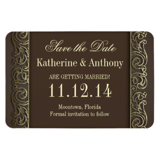 vintage retro save the date magnets