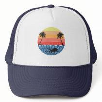Vintage Retro Scuba Diving Gift For Scuba Diver Trucker Hat