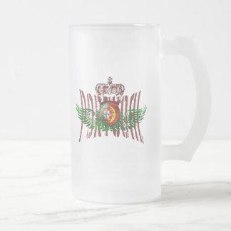 Vintage Retro Selecção das Quinas Presentes Frosted Glass Beer Mug