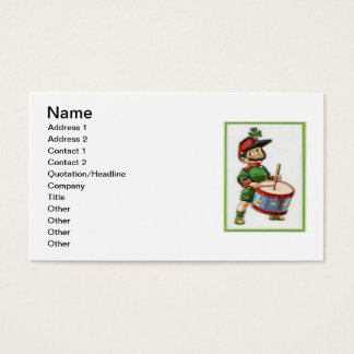 Vintage Retro Shamrock Soldier St Patrick's Day Business Card