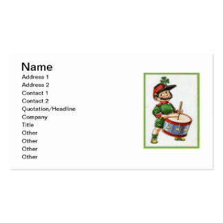 Vintage Retro Shamrock Soldier St Patrick's Day Double-Sided Standard Business Cards (Pack Of 100)