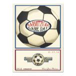 Vintage Retro Soccer 5.5 x 7.5 Bar Mitzvah 5.5x7.5 Paper Invitation Card