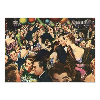 Vintage Retro Soiree Party Bash wing-ding Blank Card