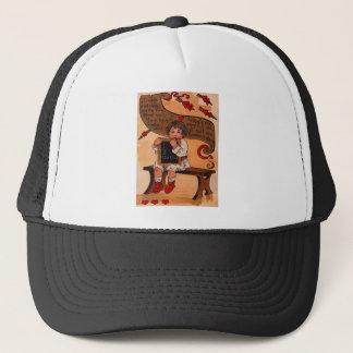 Vintage Retro Student Learning Love Valentine Card Trucker Hat