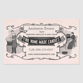 Vintage Retro Style Homemade Candy Custom Labels