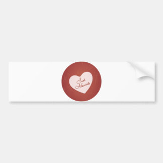 Vintage Retro Style Just Married On Antique Red Car Bumper Sticker