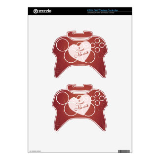 Vintage Retro Style Just Married On Antique Red Xbox 360 Controller Decal