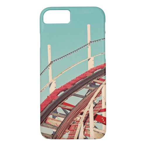 Vintage Retro Style Roller Coaster iPhone Case