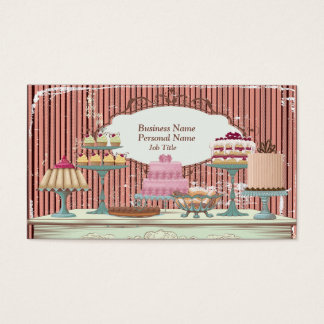 Vintage Retro Sweet Candy Bakery Bar Profile Card