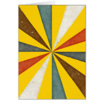Vintage Retro Swirl On Canary Yellow Background Greeting Card