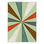 Vintage Retro Swirl On Celery Root Mint Background Card