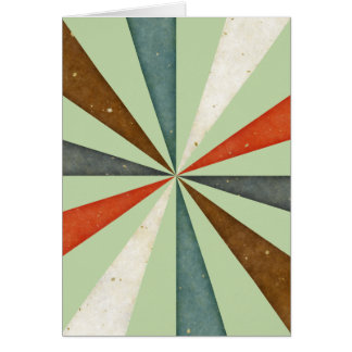 Vintage Retro Swirl On Celery Root Mint Background Greeting Card