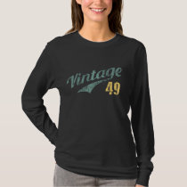 Vintage Retro T-Shirt For 69th Birthday.