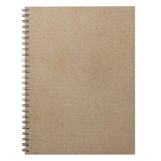 Vintage Retro Tan Brown Paper Parchment Background Notebook