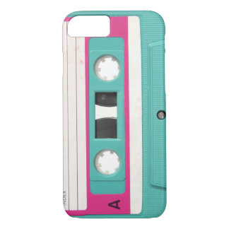 Vintage Retro Teal Audio Cassette Tape iPhone 8/7 Case