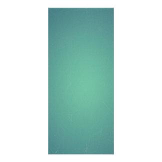 Vintage Retro Teal BlueGreen Turquoise Promotional Rack Card