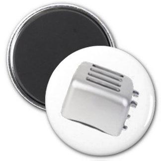 Vintage Retro Toaster Design - B&W Grey 2 Inch Round Magnet