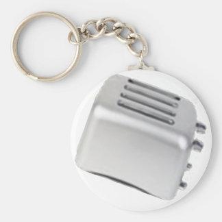 Vintage Retro Toaster Design - B&W Grey Keychain